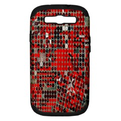 Red Circle Samsung Galaxy S Iii Hardshell Case (pc+silicone)
