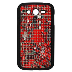 Red Circle Samsung Galaxy Grand Duos I9082 Case (black) by AnjaniArt