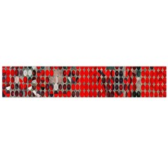 Red Circle Flano Scarf (large) by AnjaniArt