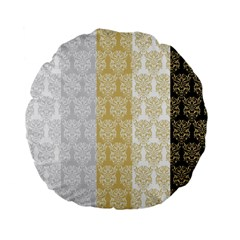 Scrapbook Digitais Estampa Arabesco Scrapbook Para Imprimir Flower Leaf Standard 15  Premium Flano Round Cushions