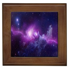 Galaxy Space Purple Framed Tiles