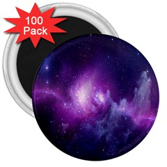 Galaxy Space Purple 3  Magnets (100 Pack)