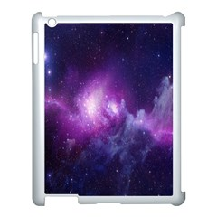 Galaxy Space Purple Apple Ipad 3/4 Case (white) by AnjaniArt