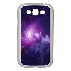 Galaxy Space Purple Samsung Galaxy Grand Duos I9082 Case (white)