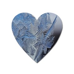Frost Leafe Heart Magnet by AnjaniArt