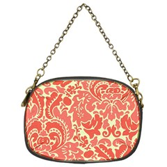 Red Floral Chain Purses (one Side)  by AnjaniArt