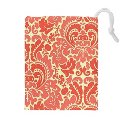 Red Floral Drawstring Pouches (extra Large)