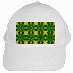 Background Colour Circle Yellow Green White Cap by AnjaniArt