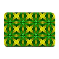 Background Colour Circle Yellow Green Plate Mats by AnjaniArt