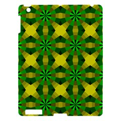Background Colour Circle Yellow Green Apple Ipad 3/4 Hardshell Case by AnjaniArt
