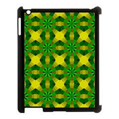 Background Colour Circle Yellow Green Apple Ipad 3/4 Case (black) by AnjaniArt