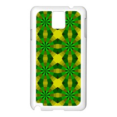 Background Colour Circle Yellow Green Samsung Galaxy Note 3 N9005 Case (white) by AnjaniArt