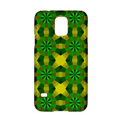 Background Colour Circle Yellow Green Samsung Galaxy S5 Hardshell Case