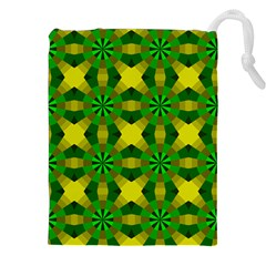 Background Colour Circle Yellow Green Drawstring Pouches (xxl) by AnjaniArt