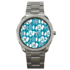 Act Symbols Sport Metal Watch by AnjaniArt