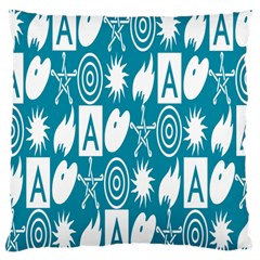 Act Symbols Large Cushion Case (one Side)