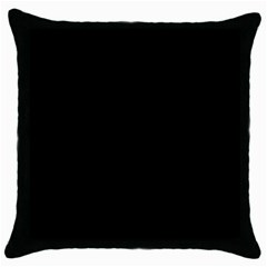 Black Color Throw Pillow Case (black)