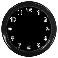 Black Color Wall Clocks (black) by AnjaniArt