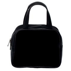 Black Color Classic Handbags (one Side) by AnjaniArt