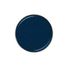 Chain Blue Green Woven Fabric Hat Clip Ball Marker