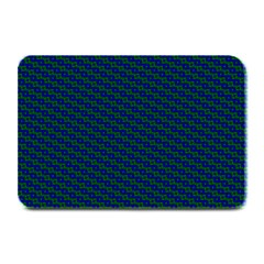 Chain Blue Green Woven Fabric Plate Mats