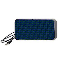 Chain Blue Green Woven Fabric Portable Speaker (black) by AnjaniArt