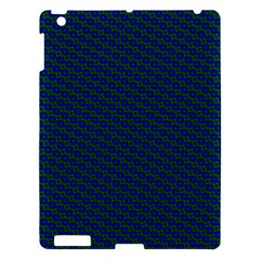 Chain Blue Green Woven Fabric Apple Ipad 3/4 Hardshell Case by AnjaniArt