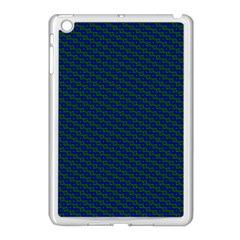 Chain Blue Green Woven Fabric Apple Ipad Mini Case (white) by AnjaniArt