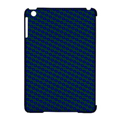 Chain Blue Green Woven Fabric Apple Ipad Mini Hardshell Case (compatible With Smart Cover)