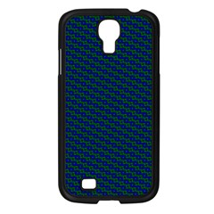 Chain Blue Green Woven Fabric Samsung Galaxy S4 I9500/ I9505 Case (black) by AnjaniArt