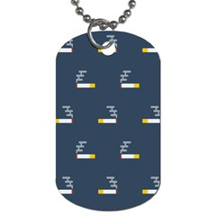 Cigarette Grey Dog Tag (one Side)