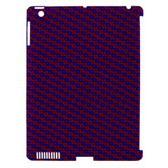 Chain Blue Red Woven Fabric Apple Ipad 3/4 Hardshell Case (compatible With Smart Cover) by AnjaniArt