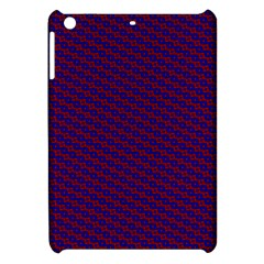 Chain Blue Red Woven Fabric Apple Ipad Mini Hardshell Case by AnjaniArt