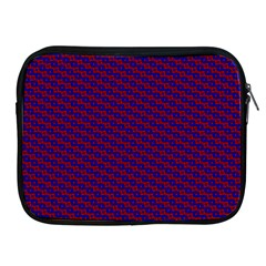 Chain Blue Red Woven Fabric Apple Ipad 2/3/4 Zipper Cases