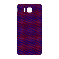 Chain Blue Red Woven Fabric Samsung Galaxy Alpha Hardshell Back Case