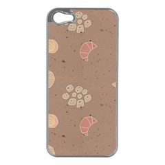 Bread Cake Brown Apple Iphone 5 Case (silver)