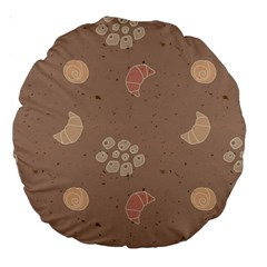 Bread Cake Brown Large 18  Premium Round Cushions