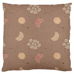 Bread Cake Brown Large Flano Cushion Case (one Side)
