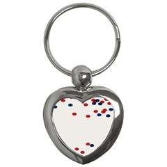 Circle Red Blue Key Chains (heart)