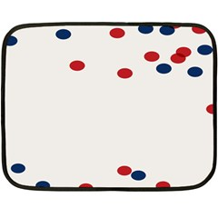 Circle Red Blue Double Sided Fleece Blanket (mini)  by AnjaniArt