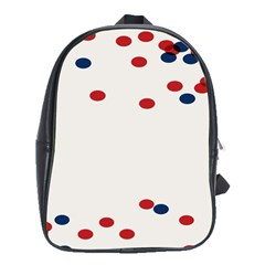 Circle Red Blue School Bags(large)  by AnjaniArt