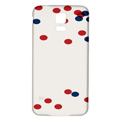 Circle Red Blue Samsung Galaxy S5 Back Case (white)