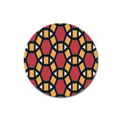 Circle Ball Red Yellow Magnet 3  (round) by AnjaniArt