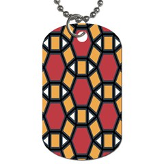 Circle Ball Red Yellow Dog Tag (two Sides) by AnjaniArt