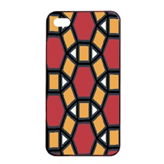 Circle Ball Red Yellow Apple Iphone 4/4s Seamless Case (black)