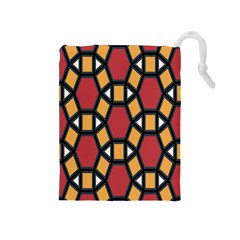 Circle Ball Red Yellow Drawstring Pouches (medium)  by AnjaniArt