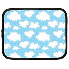 Cloud Blue Sky Netbook Case (xl)  by AnjaniArt
