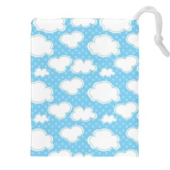 Cloud Blue Sky Drawstring Pouches (xxl) by AnjaniArt
