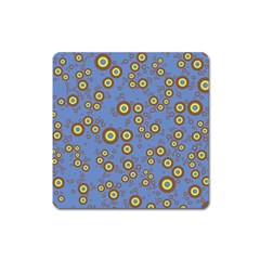 Circle Purple Yellow Square Magnet