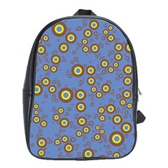 Circle Purple Yellow School Bags(large)